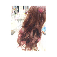 ガーリー ピンク ゆるふわ イルミナカラー ヘアスタイルや髪型の写真・画像