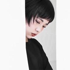 ナチュラル 大人女子 黒髪 ストリート ヘアスタイルや髪型の写真・画像