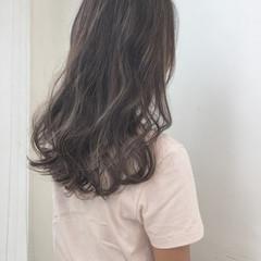ハイライト セミロング 外国人風 ロング ヘアスタイルや髪型の写真・画像