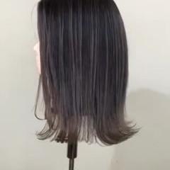 ストリート ミルクティーグレー セミロング ミルクティーグレージュ ヘアスタイルや髪型の写真・画像