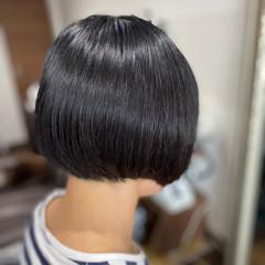 ミニボブ ショートボブ モード 切りっぱなしボブ ヘアスタイルや髪型の写真・画像