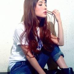 ロング ゆるふわ 外国人風 フェミニン ヘアスタイルや髪型の写真・画像