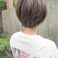 ハイライト ショート 大人ハイライト ショートボブ ヘアスタイルや髪型の写真・画像