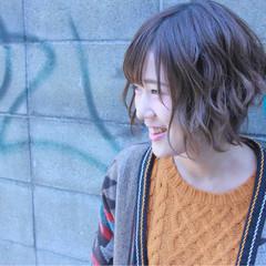 アンニュイほつれヘア ボブ ウェットヘア ガーリー ヘアスタイルや髪型の写真・画像