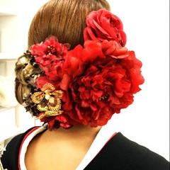 ヘアアレンジ ロング 着物 結婚式 ヘアスタイルや髪型の写真・画像