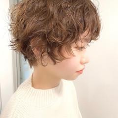 ゆるふわ ベリーショート ナチュラル 大人かわいい ヘアスタイルや髪型の写真・画像