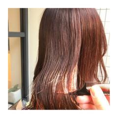 ナチュラル セミロング ブリーチなし N.オイル ヘアスタイルや髪型の写真・画像