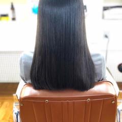 縮毛矯正ストカール ナチュラル 髪質改善トリートメント 黒髪 ヘアスタイルや髪型の写真・画像