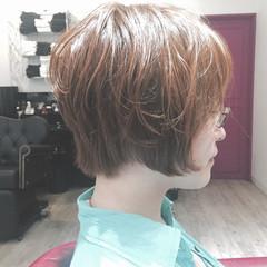 ナチュラル ショートボブ ボブ くせ毛風 ヘアスタイルや髪型の写真・画像