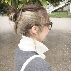 アッシュ ストリート ヘアアレンジ イルミナカラー ヘアスタイルや髪型の写真・画像