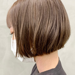 ミニボブ ショート モテボブ ショコラブラウン ヘアスタイルや髪型の写真・画像