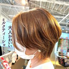 ショートヘア ショートボブ インナーカラー ロング ヘアスタイルや髪型の写真・画像