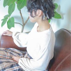 ゆるふわ ヘアアレンジ 二次会 ナチュラル ヘアスタイルや髪型の写真・画像