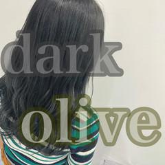 オリーブアッシュ オリーブグレージュ オリーブ 髪質改善 ヘアスタイルや髪型の写真・画像