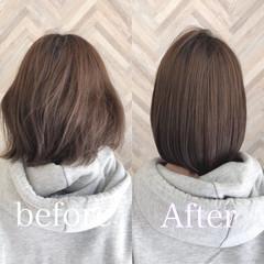 縮毛矯正 ナチュラル ショートボブ 髪質改善トリートメント ヘアスタイルや髪型の写真・画像