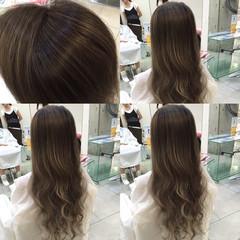 透明感 ロング ハイライト ダブルカラー ヘアスタイルや髪型の写真・画像