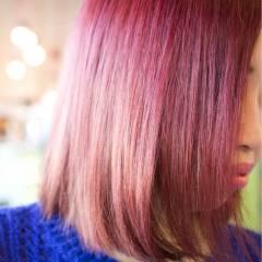 ガーリー ストリート ダブルカラー ピンク ヘアスタイルや髪型の写真・画像