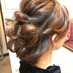 編み込み ヘアアレンジ エレガント 上品 ヘアスタイルや髪型の写真・画像