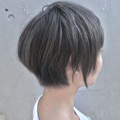 グレージュ 暗髪 ストリート 黒髪 ヘアスタイルや髪型の写真・画像