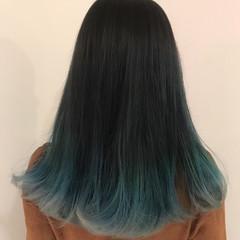 ストリート 外国人風カラー グレージュ ロング ヘアスタイルや髪型の写真・画像