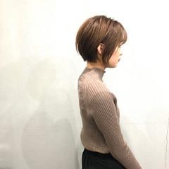 簡単スタイリング ショートボブ 小顔ショート ショートヘア ヘアスタイルや髪型の写真・画像