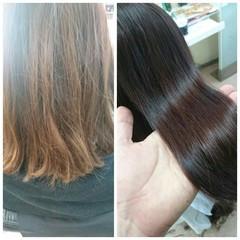 ミディアム モテ髪 艶髪 暗髪 ヘアスタイルや髪型の写真・画像