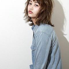 ミディアム 夏 春 ハイライト ヘアスタイルや髪型の写真・画像
