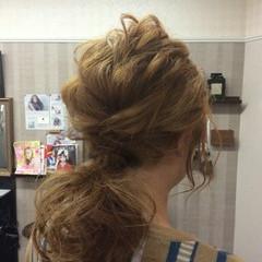 ナチュラル 結婚式 ヘアアレンジ 編み込み ヘアスタイルや髪型の写真・画像