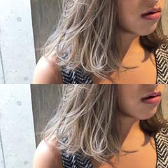 ミディアム ヘアアレンジ リラックス 透明感 ヘアスタイルや髪型の写真・画像