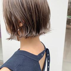ナチュラル ボブ 切りっぱなしボブ ショートヘア ヘアスタイルや髪型の写真・画像
