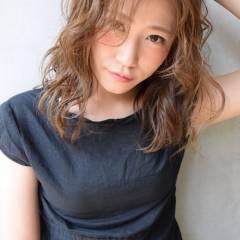 セミロング かっこいい おフェロ セクシー ヘアスタイルや髪型の写真・画像