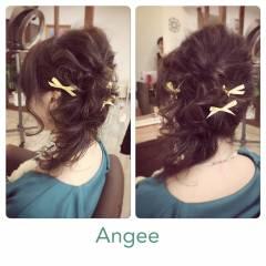 モテ髪 ハーフアップ 大人かわいい フェミニン ヘアスタイルや髪型の写真・画像