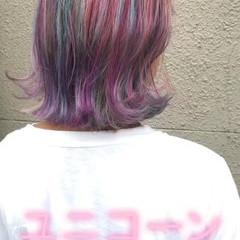 ストリート ボブ ブリーチ シルバー ヘアスタイルや髪型の写真・画像