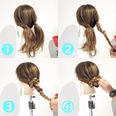 ロング ヘアアレンジ 女子会 オフィス ヘアスタイルや髪型の写真・画像