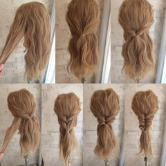 ショート ロング ハーフアップ ハイライト ヘアスタイルや髪型の写真・画像