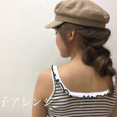 ヘアアレンジ デート 簡単ヘアアレンジ 編み込みヘア ヘアスタイルや髪型の写真・画像