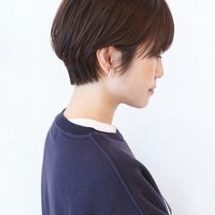 黒髪ショート ベリーショート ショート ショートボブ ヘアスタイルや髪型の写真・画像