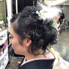 成人式 編み込み コンサバ ヘアアレンジ ヘアスタイルや髪型の写真・画像