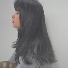 ロング 冬 アッシュ 秋 ヘアスタイルや髪型の写真・画像