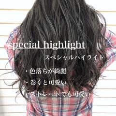 透明感カラー ダブルカラー 外国人風カラー ロング ヘアスタイルや髪型の写真・画像