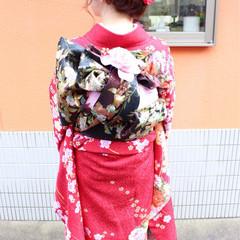 編み込み ヘアアレンジ ロング 着物 ヘアスタイルや髪型の写真・画像