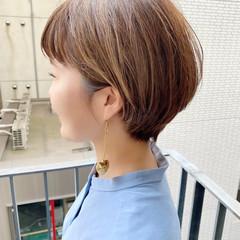 ショートボブ ショート デート ゆるふわ ヘアスタイルや髪型の写真・画像