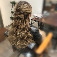 ヘアアレンジ ハーフアップ 結婚式ヘアアレンジ ヘアセット ヘアスタイルや髪型の写真・画像