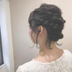 ボブ 結婚式 ガーリー 黒髪 ヘアスタイルや髪型の写真・画像