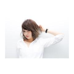 色気 ストリート 透明感 外ハネ ヘアスタイルや髪型の写真・画像