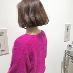上品 切りっぱなし ボブ 色気 ヘアスタイルや髪型の写真・画像
