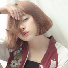 ナチュラル 外国人風 パーマ ボブ ヘアスタイルや髪型の写真・画像