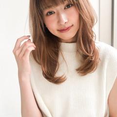 縮毛矯正 ミディアム ストレート 大人女子 ヘアスタイルや髪型の写真・画像