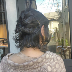 デート 簡単ヘアアレンジ ガーリー ブルージュ ヘアスタイルや髪型の写真・画像