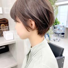 ナチュラル オフィス デート ベリーショート ヘアスタイルや髪型の写真・画像